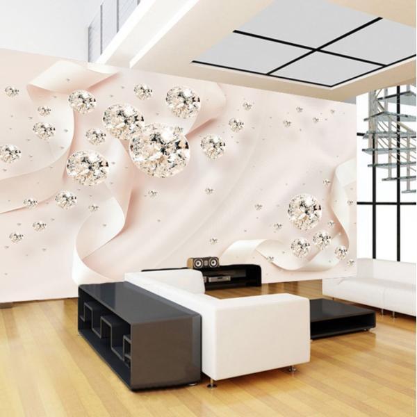 3D 壁紙 1ピース 1m2 ピンク キラキラ ダイヤ 姫 インテリア 部屋装飾 耐水 防湿 防音 h02875|next-dreamshop|02