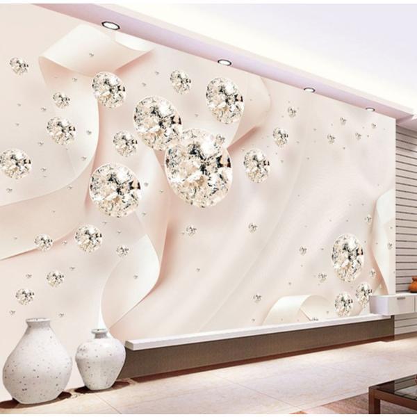 3D 壁紙 1ピース 1m2 ピンク キラキラ ダイヤ 姫 インテリア 部屋装飾 耐水 防湿 防音 h02875|next-dreamshop|04