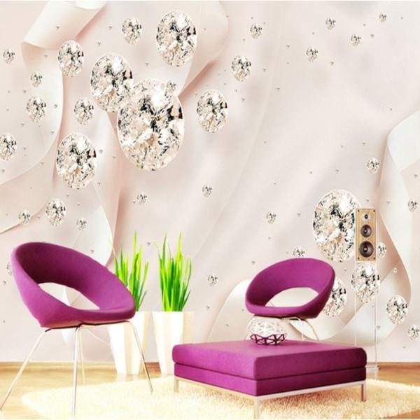 3D 壁紙 1ピース 1m2 ピンク キラキラ ダイヤ 姫 インテリア 部屋装飾 耐水 防湿 防音 h02875|next-dreamshop|05