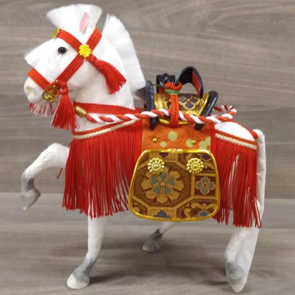 五月人形飾り馬コンパクトおしゃれ初節句男の子お祝い子供の日こどもの日(飾馬出飾り6号赤箱入)数量