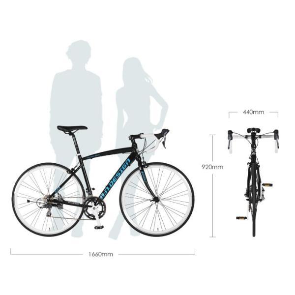 アウトレット a.n.design works 5014AL 自転車 ロードバイク 本体 軽量 アルミ STI 14段変速 カンタン組立 バルブアダプタープレゼント nextbike 03