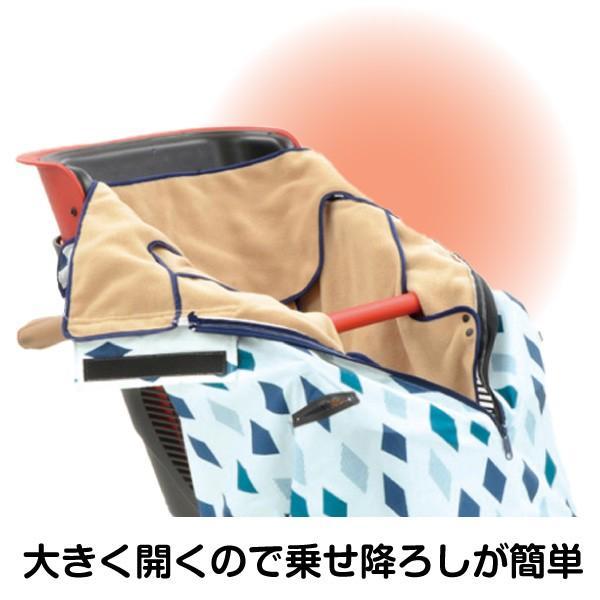 自転車 チャイルドシート カバー 子供 防寒 OGK BKF-001 まえ子供のせ用ブランケット 特別カラー チャイルドシート用|nextbike|03