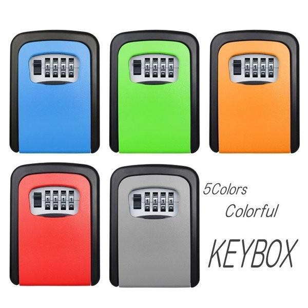 セキュリティ キー ボックス 4ダイヤル式 固定型 大容量 シェア キー暗証番号型ボックス 事務所 工場 共有 合鍵 オフィス KAGIKAKKO