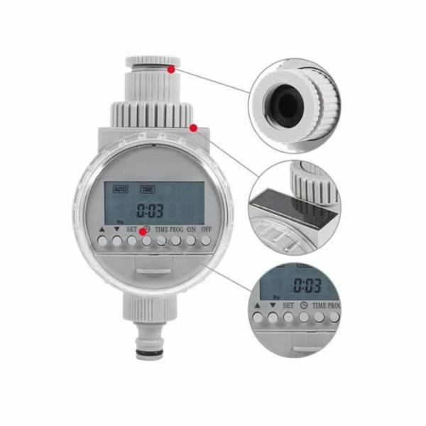 散水王 タイマー設定 自動 水やり 電子制御 蛇口 水やり 散水 簡単 ソーラー 太陽光 充電式 DIY ガーデン 庭 植物 花 留守 旅行 SANSUIOU|nexts