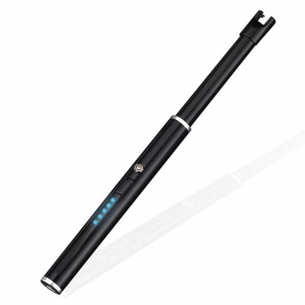 ローランド ライター ブラック 電子ライター 点火用ライター プラズマ USB充電式 電気 防風 おしゃれ 軽量 薄型 アウトドア RORAND|nexts