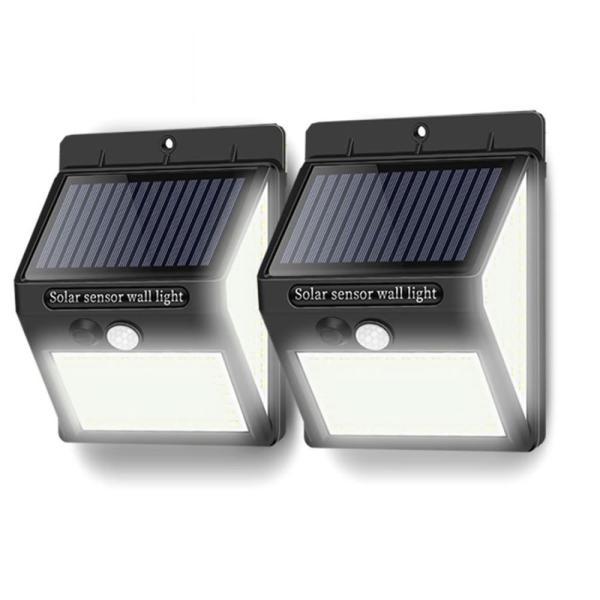 2台セット 140LED 屋外 照明 センサーライト  ソーラー 人感センサー 防水 防犯ライト 3つ点灯モード 自動点灯 屋外 玄関 庭 駐車場 2-250LEDZI