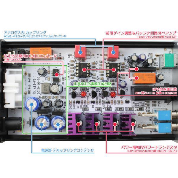 FX-AUDIO- PH-A1J[シルバー]パワートランジスタディスクリート構成ヘッドフォンアンプ|nfj|04