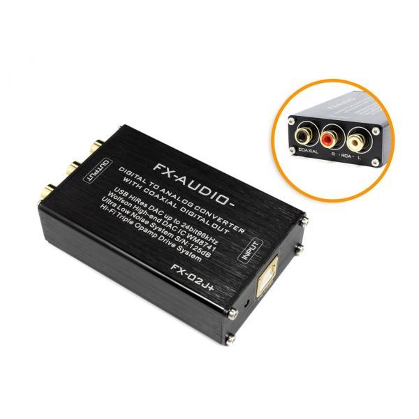 FX-AUDIO- FX-02J+ ハイエンドオーディオ用DAC WM8741搭載 バスパワー駆動ハイレゾDAC/DDC|nfj|04