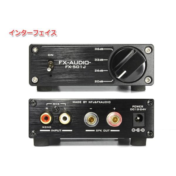 FX-AUDIO- FX-501J[ブラック] TPA3118デジタルアンプIC搭載 PBTL モノラル パワーアンプ  100W×1ch ParallelBTL|nfj|02