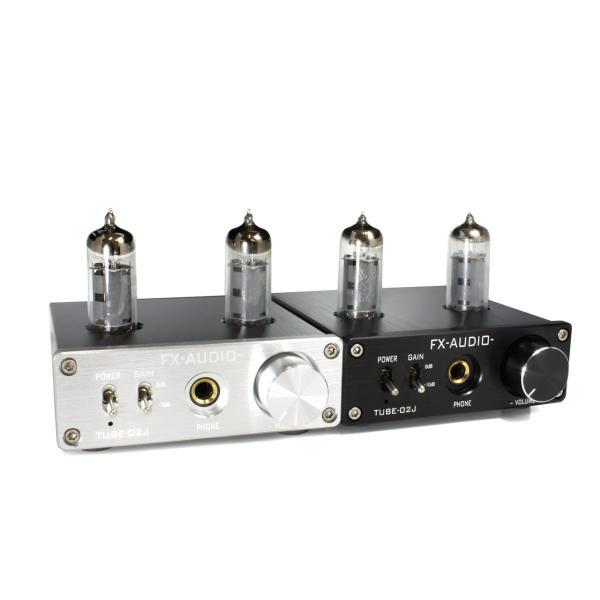 FX-AUDIO- TUBE-02J[シルバー]本格真空管ヘッドホンアンプ|nfj|04