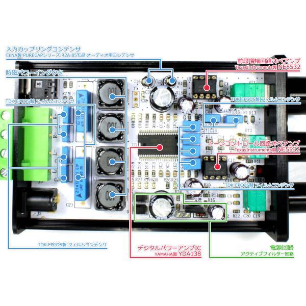 FX-AUDIO- FX152J PRO[ブラック]YDA138搭載トーンコントロール内蔵プリメインアンプ|nfj|03
