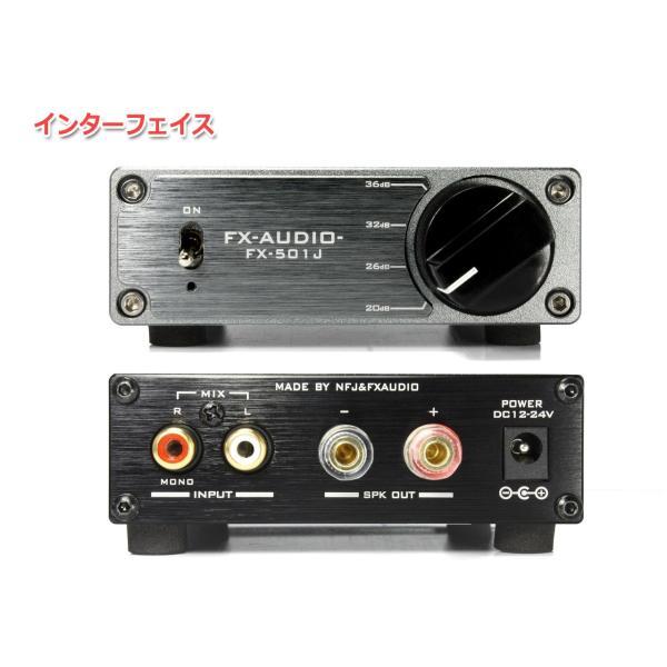 FX-AUDIO- FX-501J[チタンブラック] TPA3118デジタルアンプIC搭載 PBTL モノラル パワーアンプ  100W×1ch ParallelBTL|nfj|02