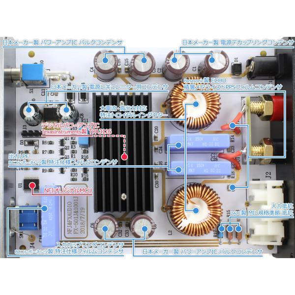 FX-AUDIO- FX-1001J[チタンブラック] TPA3116デジタルアンプIC搭載 PBTL モノラル パワーアンプ  100W×1ch ParallelBT nfj 03