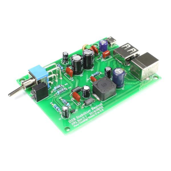 NFJオリジナル USBノイズフィルター機構付きUSBスタビライザー『PGN Plate Goodbye NoisesII(仮)』完成基板|nfj