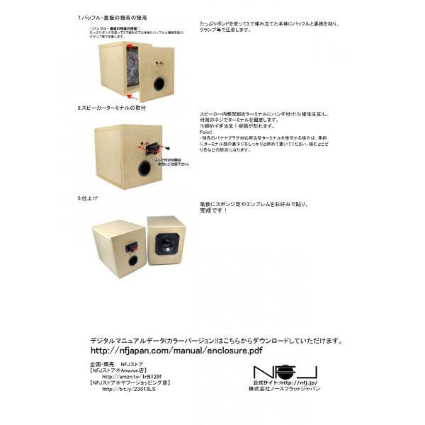 NFJ謹製エンクロージャー自作キット[MODEL-PLS] 組立式スピーカーキット Peerless PLS-P830985に最適化 日本製MDF採用|nfj|11