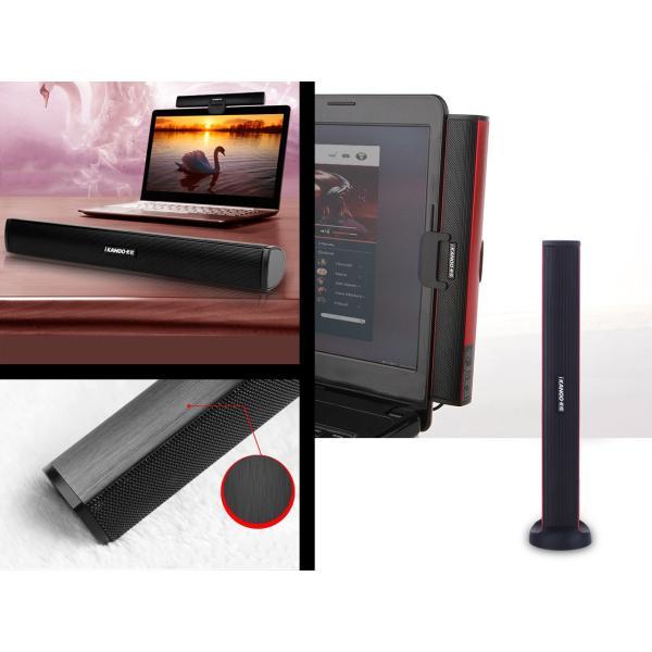 iKANOO N12 [ブラック]USB接続スピーカー サウンドバー ポータブルスピーカー 電源不要 USB DAC+アンプ内蔵スピーカー|nfj|02