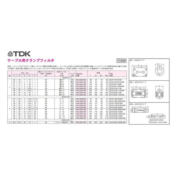 フェライトコア ノイズフィルター ZCAT 2132-1130 灰 Φ11対応 [リユース品]|nfj|03