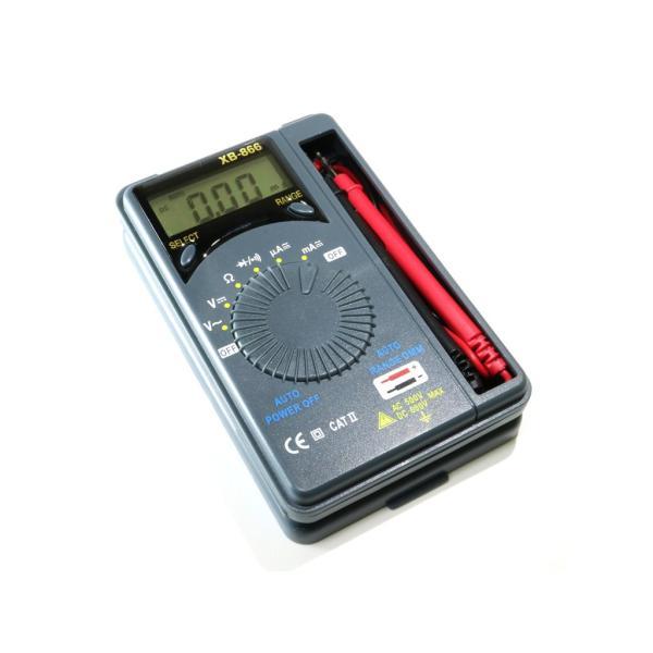 『メール便OK』オートレンジ 小型デジタルテスター XB-866(単4電池付属) マルチテスター|nfj|04
