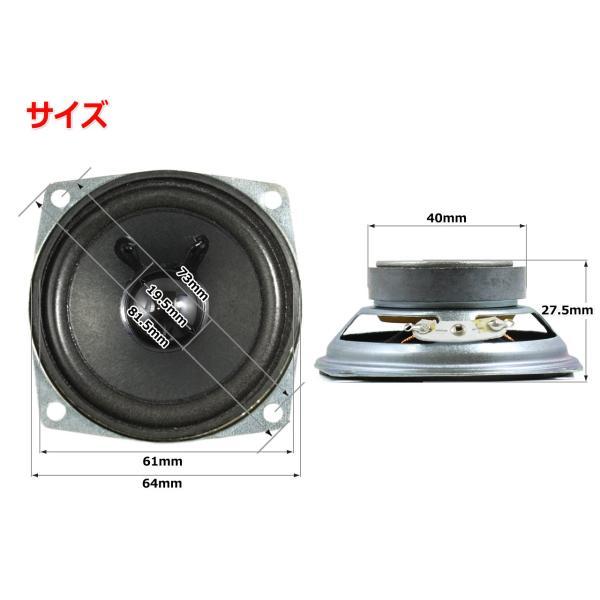 フルレンジスピーカーユニット2.5インチ(64mm) 8Ω/MAX10W [スピーカー自作/DIYオーディオ]在庫少|nfj|02