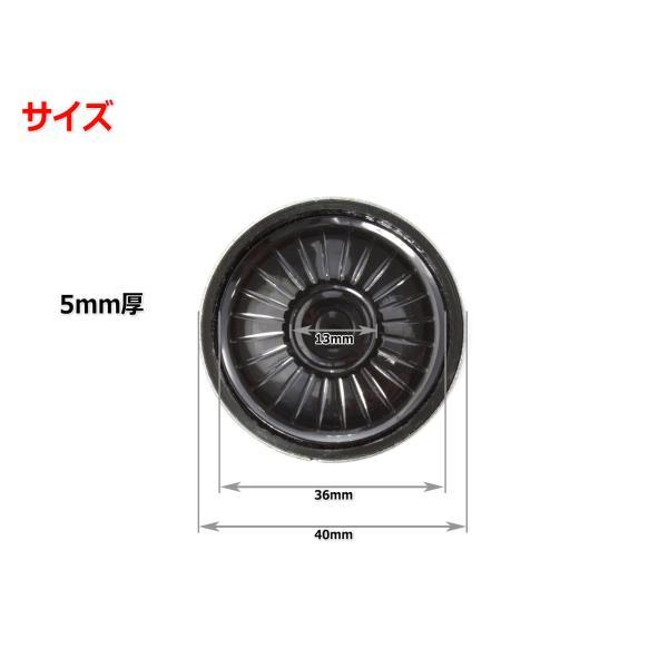 極薄5mm厚 ヘッドフォン用ドライバーユニット 1.5インチ(40mm) 8Ω Φ40mm×5mm nfj 02