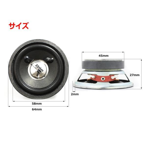 フルレンジスピーカーユニット2.5インチ(60mm) 8Ω/MAX2W [スピーカー自作/DIYオーディオ] nfj 02