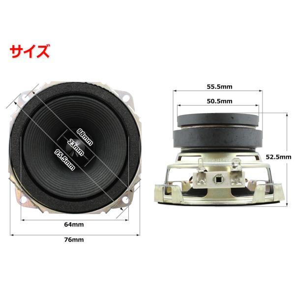 フルレンジスピーカーユニット3インチ(76mm) 4Ω/MAX60W [スピーカー自作/DIYオーディオ]|nfj|02