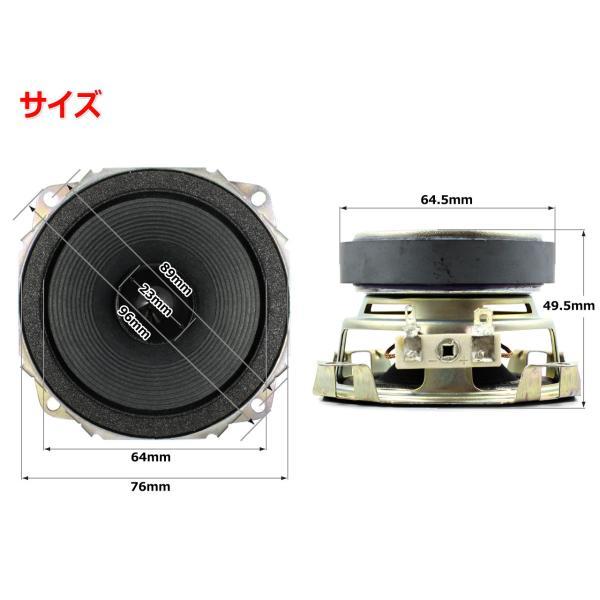 フルレンジスピーカーユニット3インチ(76mm) 3Ω/MAX60W [スピーカー自作/DIYオーディオ]|nfj|02