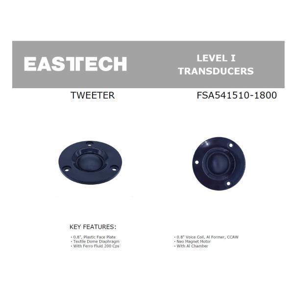 EASTECH FSA541510-1800 シルクドームツイーターユニット0.8インチ(23mm) 8Ω/MAX30W [スピーカー自作/DIYオーディオ]|nfj|03