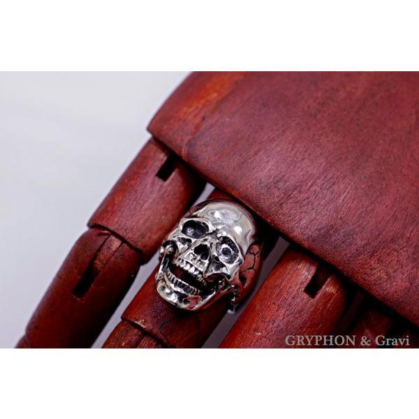 指輪 スカルリング Luck Skull Ring ラック スカル リング ガーネット トパーズ |nfw|02