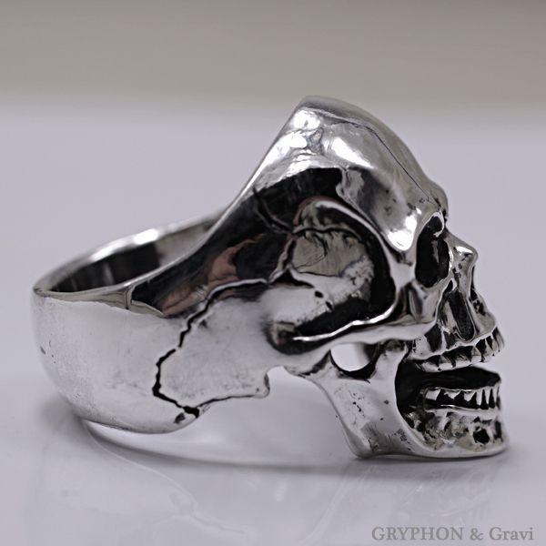 指輪 スカルリング Luck Skull Ring ラック スカル リング ガーネット トパーズ |nfw|03