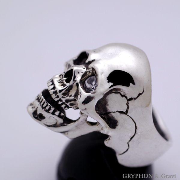 指輪 スカルリング Luck Skull Ring ラック スカル リング ガーネット トパーズ |nfw|04