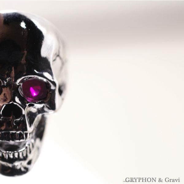 指輪 スカルリング Luck Skull Ring ラック スカル リング ガーネット トパーズ |nfw|06