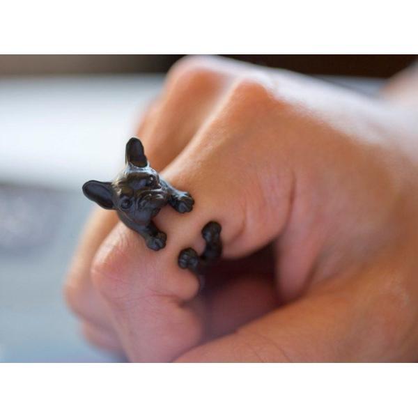 リング フレンチブルドッグ 犬 Cリング C型リング フォークリング アニマルリング ファランジリング ユニセックス 雑貨 グッズ|nfw|04