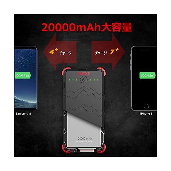 [快速充電] OUTXE 20000mAh ソーラーチャージャー (4A 2入力ポート) USB素早く充電できる防水|ngo-worksstore|05