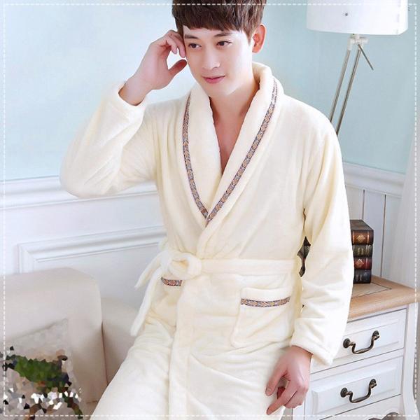 バスローブ レディース メンズ カップル ルームウェア ふわふわ 暖かい もこもこ 長袖 厚手 部屋着 寝巻き 大きいサイズ ngytomato 11