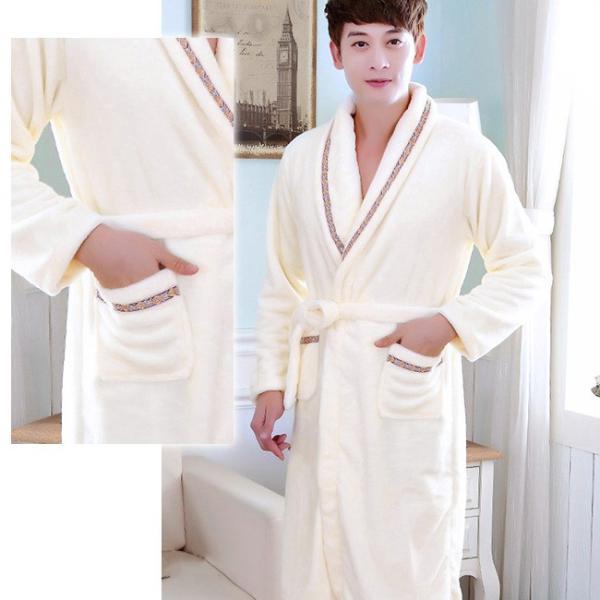 バスローブ レディース メンズ カップル ルームウェア ふわふわ 暖かい もこもこ 長袖 厚手 部屋着 寝巻き 大きいサイズ ngytomato 12