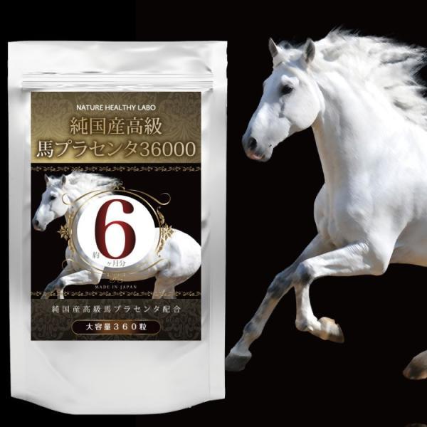 純国産高級馬プラセンタ36000 大容量 約6ヶ月分/360粒 馬プラセンタ プラセンタ 国産 美容 活力 潤い 滋養 強壮 妊活 更年期 女性 サプリ サプリメント