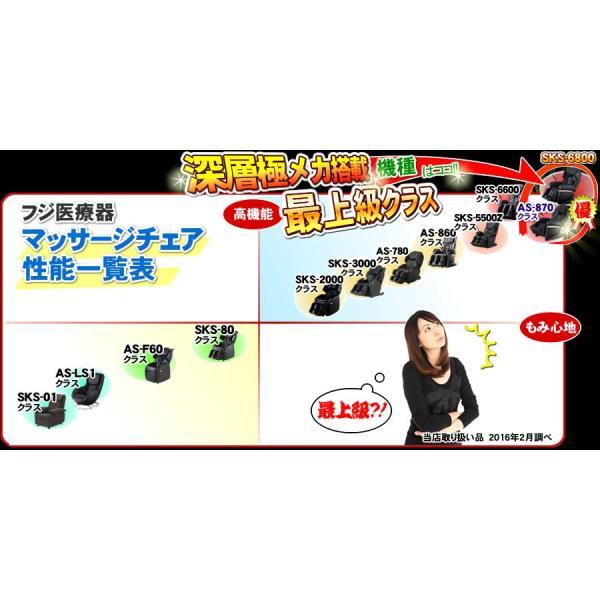 フジ医療器 マッサージチェア サイバーリラックス AS-870 BK 新古品 ★無料引取り付★|nicgekishin|04