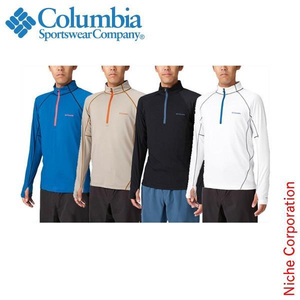 コロンビア(Columbia) ビッグローレルロングスリーブハーフジップ PM1150|niche-express