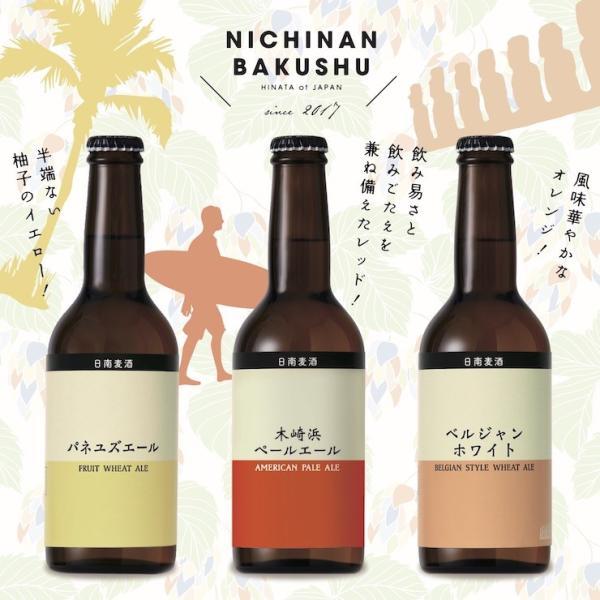 お中元に 宮崎地ビール 日南麦酒 味くらべ6本セット 受注生産 330ml|nichinan-tv