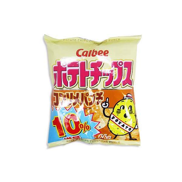 カルビー ポテトチップス コンソメパンチ(12個入)レギュラーサイズ まとめ買い スナック お菓子