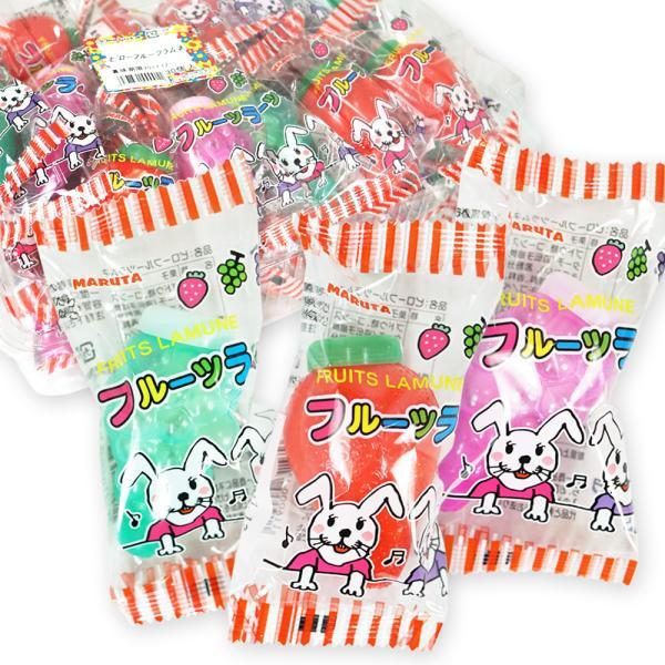 駄菓子のまとめ買い・ラムネの駄菓子 マルタ ピローフルーツラムネ (30個入)