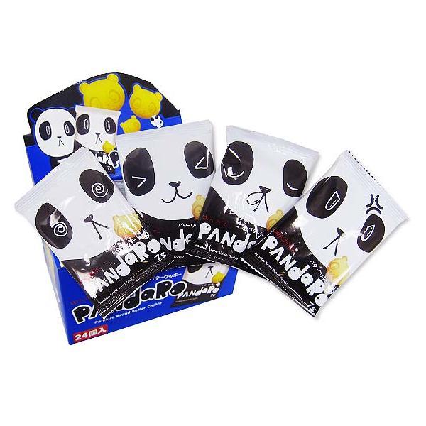 【カステラ・ビスケット系の駄菓子】パンダロー(24個入)【やおきん】