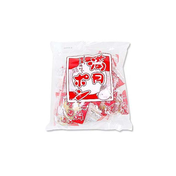 駄菓子のバラ売り・米菓・せんべい系の駄菓子  松岡 22枚入り満月ポン 大袋(1袋) nichokichi