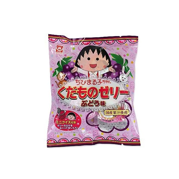 【春・夏限定】ちびまる子ちゃん くだものゼリー ぶどう味 6個(20袋入)【駄菓子のまとめ買い・ゼリー系駄菓子 】