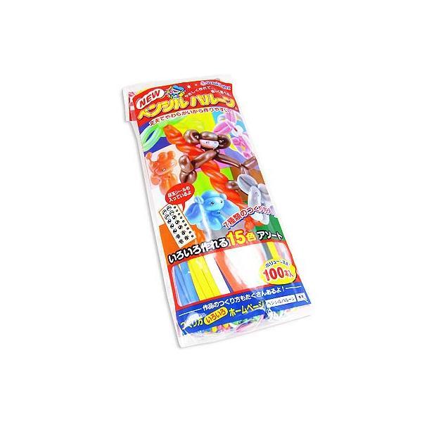 【エア玩具・風船】バルーンアートたのしい。ペンシルバルーン(100個入)【鈴木】 nichokichi