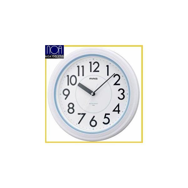 A187  送料無料  NEW防水時計 ウォーターガードクロック  MAG 防水クロックアクアガードホワイトW-148NTW-662-WH-ZNウォータークロック|nicolife