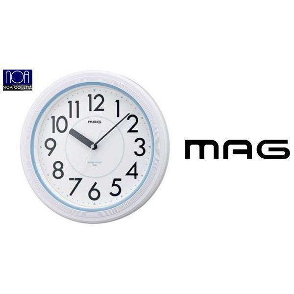 A187  送料無料  NEW防水時計 ウォーターガードクロック  MAG 防水クロックアクアガードホワイトW-148NTW-662-WH-ZNウォータークロック|nicolife|02