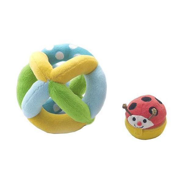 布 おもちゃ 赤ちゃん がらがら 0歳 1歳 誕生日プレゼント コロコロ コロリン