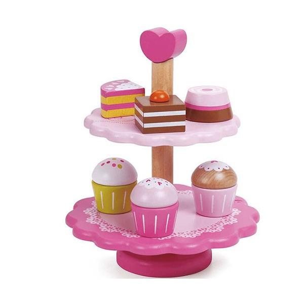 おままごと キッチン 木のおもちゃ カップケーキ スタンド